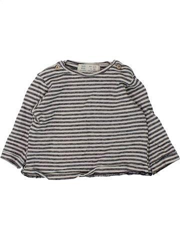 T-shirt manches longues garçon ZARA gris 3 mois hiver #1433295_1