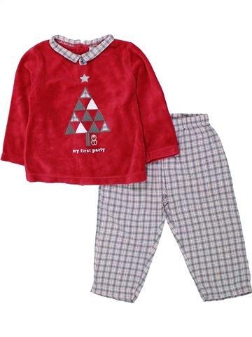 Pijama de 2 piezas niño OKAIDI rojo 18 meses invierno #1433609_1