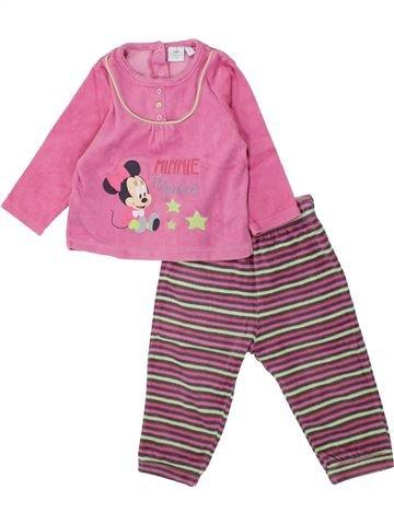 Pijama de 2 piezas niña DISNEY rosa 18 meses invierno #1433685_1