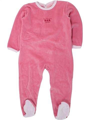 Pijama de 1 pieza niña PETIT BATEAU rosa 3 años invierno #1433800_1