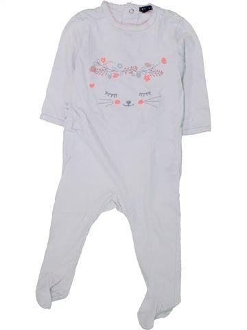 Pijama de 1 pieza niña KIABI blanco 12 meses verano #1433818_1