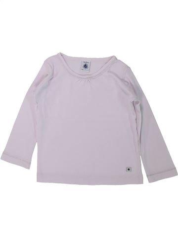 Camiseta de manga larga niña PETIT BATEAU blanco 2 años invierno #1433878_1