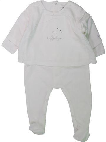 Pijama de 1 pieza niña PETIT BATEAU gris 12 meses invierno #1433880_1