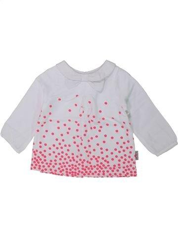 Blusa de manga larga niña DPAM blanco 6 meses invierno #1433933_1