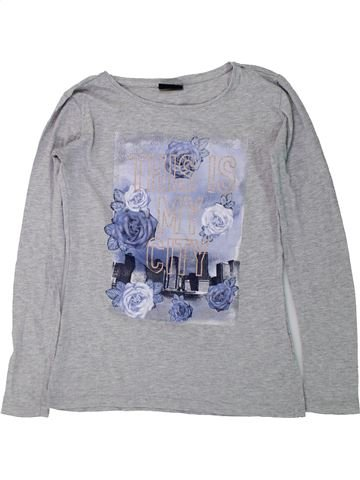 Camiseta de manga larga niña PAGE ONE YOUNG gris 14 años invierno #1434142_1