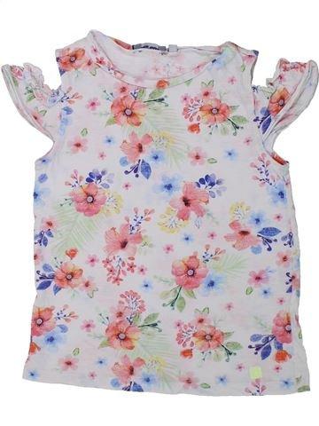 T-shirt manches courtes fille ORIGINAL MARINES blanc 6 ans été #1434234_1