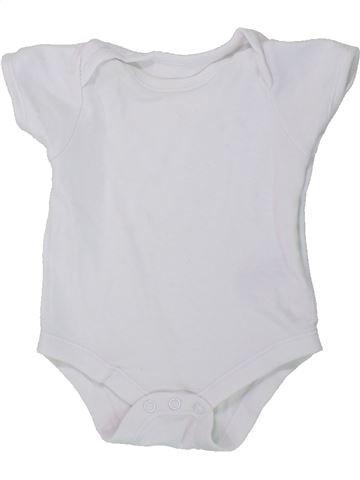 T-shirt manches courtes unisexe BABY blanc naissance été #1434425_1