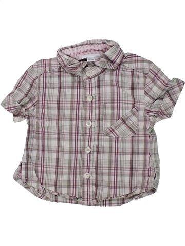 Chemise manches courtes garçon VERTBAUDET gris 3 mois été #1434743_1