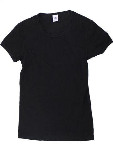 T-shirt manches courtes fille PETIT BATEAU noir 14 ans été #1434845_1