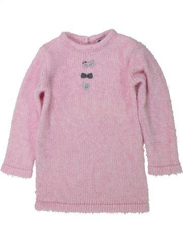 Vestido niña 3 POMMES rosa 18 meses invierno #1435083_1