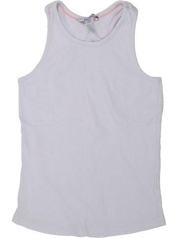 T-shirt sans manches fille OKAIDI blanc 8 ans été #1435184_1