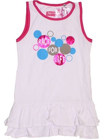 Robe fille RACE FOR LIFE blanc 6 ans été #1439919_1