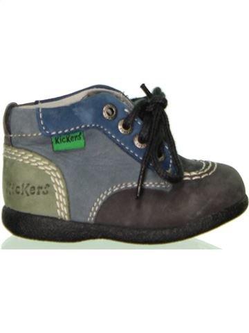 Zapatos con cordones niño KICKERS gris 18 invierno #1440655_1