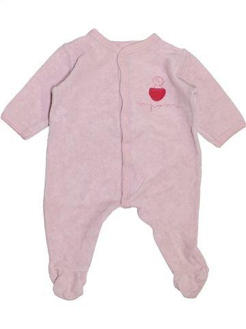 Pyjama 1 pièce fille PETIT BATEAU rose 6 mois hiver #1443488_1