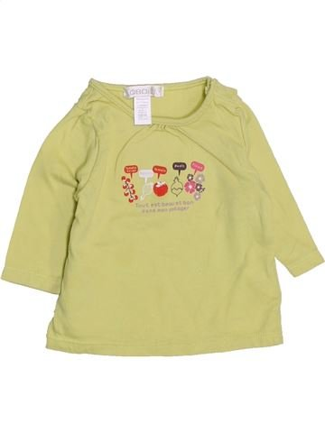 T-shirt manches longues fille OKAIDI beige 1 mois hiver #1443604_1
