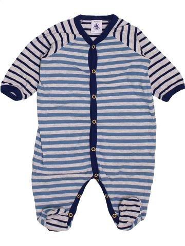 Pyjama 1 pièce garçon PETIT BATEAU gris 3 mois été #1443875_1