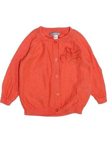 Gilet fille VERTBAUDET orange 6 mois hiver #1443958_1