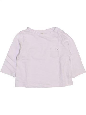 T-shirt manches longues garçon TAPE À L'OEIL blanc 9 mois hiver #1444083_1