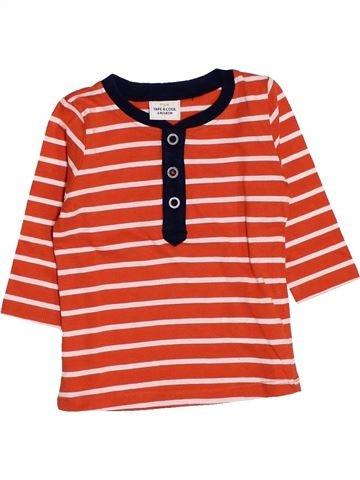 T-shirt manches longues garçon TAPE À L'OEIL rouge 6 mois hiver #1444096_1