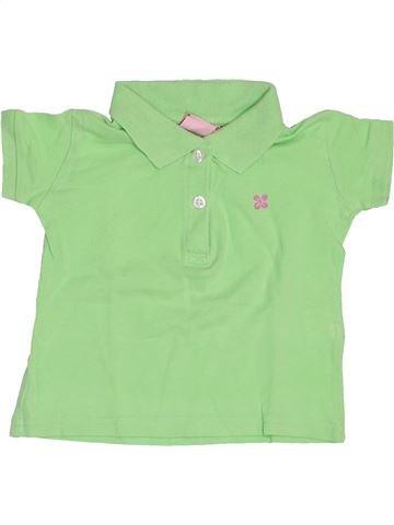 Polo de manga corta niña IMPIDIMPI verde 18 meses verano #1445391_1