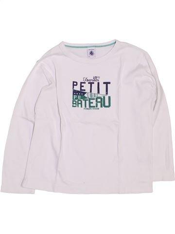 T-shirt manches longues garçon PETIT BATEAU blanc 6 ans hiver #1445816_1