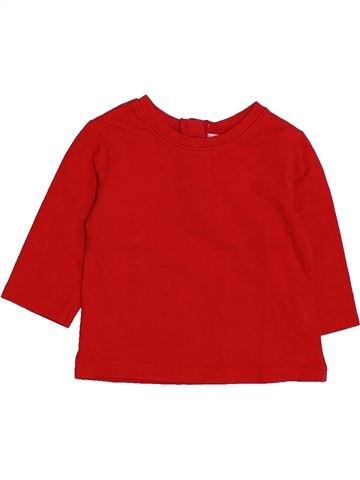 T-shirt manches longues garçon DPAM rouge 3 mois hiver #1446708_1