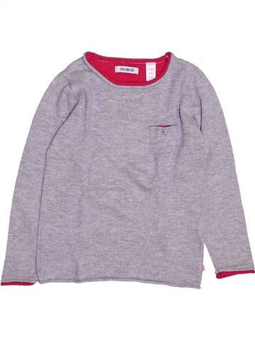 Pull fille OKAIDI gris 4 ans hiver #1446811_1