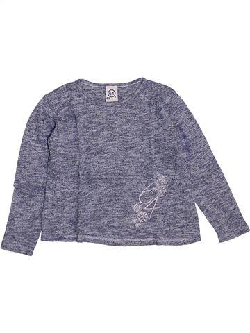 T-shirt manches longues fille 64 gris 4 ans hiver #1447152_1