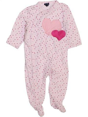 Pyjama 1 pièce fille KIABI blanc 12 mois été #1447449_1