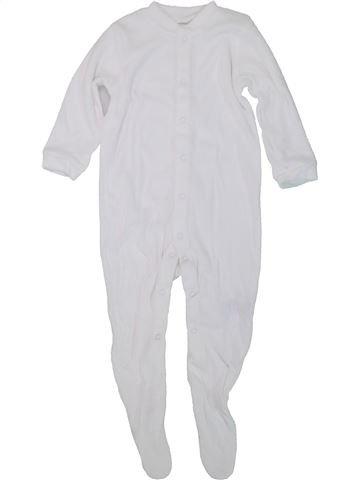 Pyjama 1 pièce unisexe MOTHERCARE blanc 18 mois été #1447493_1
