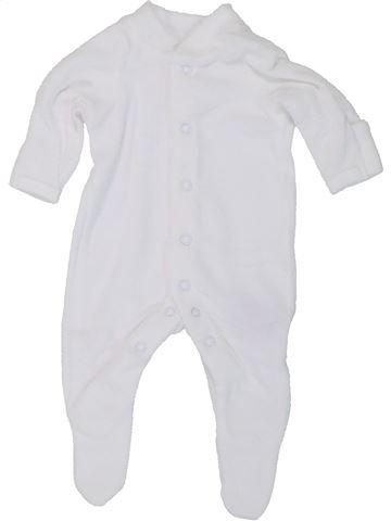 Pyjama 1 pièce unisexe MOTHERCARE blanc prématuré été #1447553_1