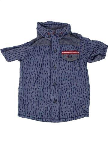 Chemise manches courtes garçon MINI CLUB bleu 12 mois été #1448266_1