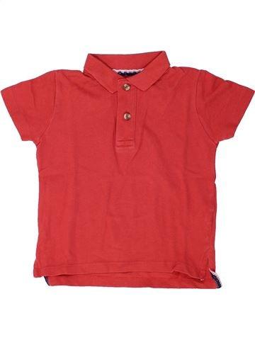 Polo manches courtes garçon MONOPRIX rouge 4 ans été #1448415_1