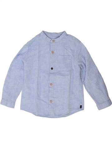 Chemise manches longues garçon ZARA bleu 4 ans hiver #1448419_1