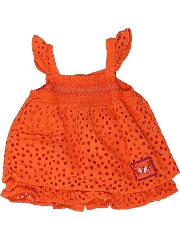 Tunique fille MARÈSE orange 12 mois été #1448577_1