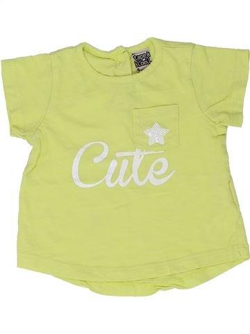 T-shirt manches courtes fille TAPE À L'OEIL vert 6 mois été #1448691_1