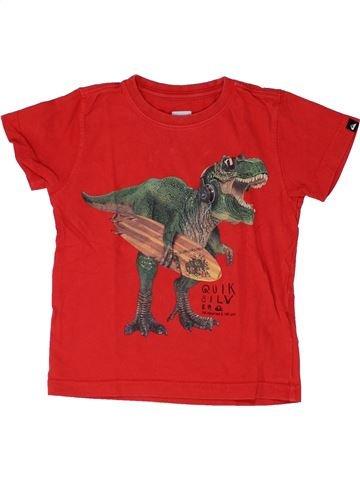 T-shirt manches courtes garçon QUIKSILVER rouge 2 ans été #1448832_1