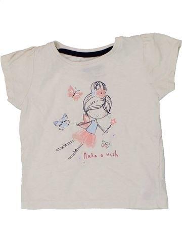 T-shirt manches courtes fille PRIMARK blanc 18 mois été #1448880_1