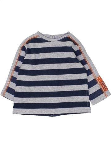 T-shirt manches longues garçon 3 POMMES gris 3 mois hiver #1449060_1