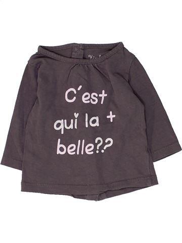 T-shirt manches longues fille KIMBALOO marron 1 mois hiver #1449297_1