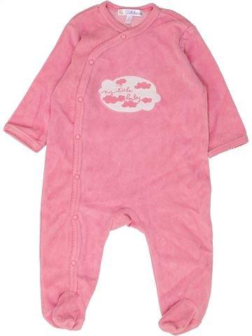 Pijama de 1 pieza niña KIABI rosa 6 meses invierno #1449304_1