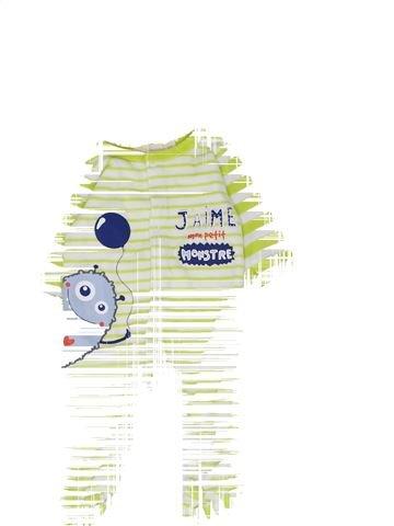 Pyjama 2 pièces garçon GEMO blanc 3 mois hiver #1449444_1