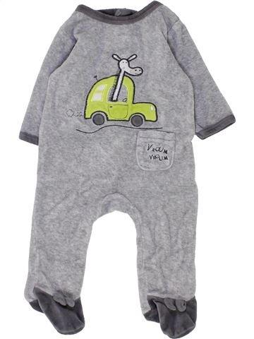 Pyjama 1 pièce garçon GEMO gris 3 mois hiver #1449464_1