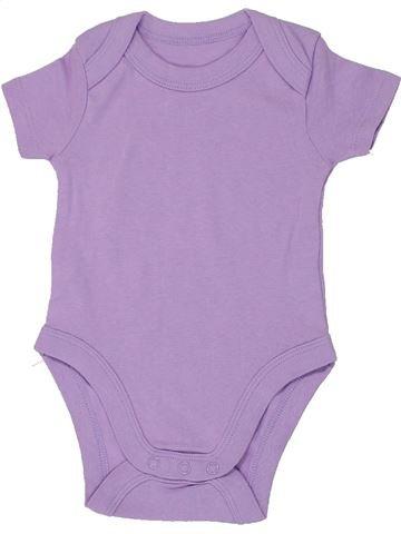 T-shirt manches courtes fille LILY & DAN violet 6 mois été #1449499_1