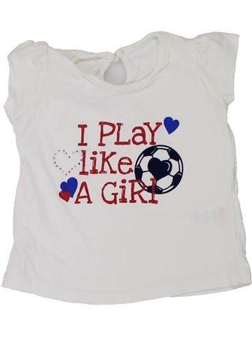 T-shirt manches courtes fille MATALAN blanc 6 mois été #1449613_1