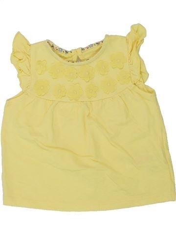 T-shirt manches courtes fille F&F jaune 9 mois été #1449830_1