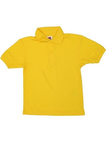 Polo manches courtes garçon FRUIT OF THE LOOM jaune 4 ans été #1449857_1
