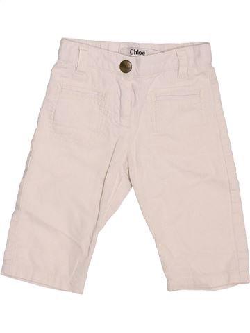 Pantalon fille CHLOÉ blanc 6 mois hiver #1449912_1