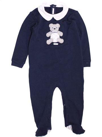 Pyjama 1 pièce garçon OVERKIDS bleu 12 mois été #1450182_1