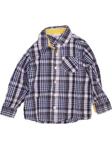 Chemise manches longues garçon FAGOTTINO bleu 2 ans hiver #1450478_1